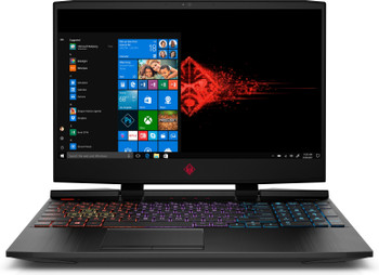 "HP Omen 15-DC0010CA Gaming Laptop – 15.6"" Display, Intel Core i7 - 2.20GHz, 12GB RAM, 1TB HDD+ 128GB SSD, Geforce GTX 1050Ti 4GB, Windows 10, Black"