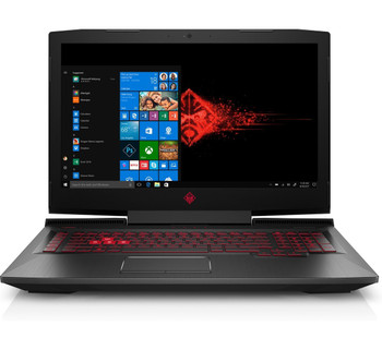 "HP Omen 17-AN130CA Gaming Laptop – 17.3"" Display, Intel Core i7 - 2.20GHz, 16GB RAM, 1TB HD + 256GB SSD, GeForce GTX 1070 8GB, Windows 10, Black"