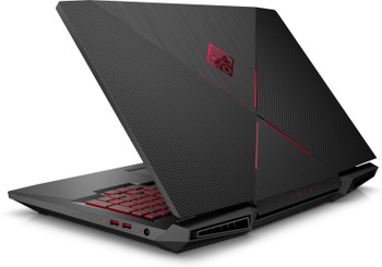 "HP Omen 17-AN110NR Gaming Laptop – 17.3"" Display, Intel Core i7 - 2.20GHz, 12GB RAM, 1TB HDD, GeForce GTX 1050Ti 4GB, Windows 10, Black"