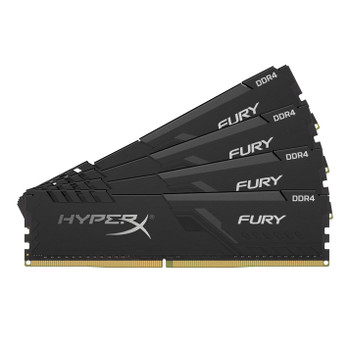 Kingston HyperX FURY Black 64GB 2400MHz DDR4 Cl15 DIMM Kit of 4 Memory Modules