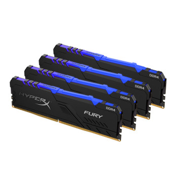 Kingston HyperX FURY RGB 32GB 2400MHz DDR4 Cl15 Dimm Kit of 4 Memory Modules