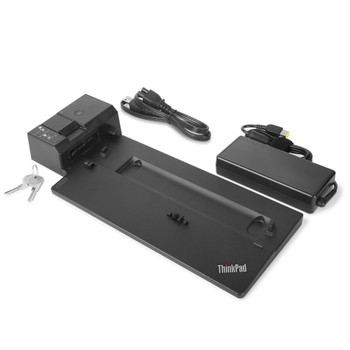 Lenovo 40AJ0135US notebook dock/port replicator Docking Black