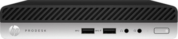 HP ProDesk 400 G4 Mini - Intel i3- 3.10GHz, 4GB RAM, 500GB HDD, Windows 10 Pro, 4AG22UT