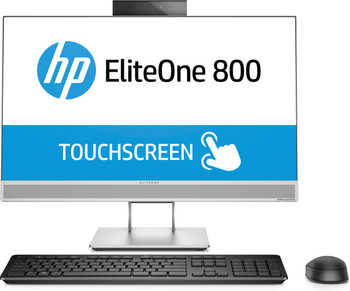 "HP EliteOne 800 G4 AIO PC - Intel i5, 8GB RAM, 256GB SSD, 23.8"" Touchscreen, Windows 10 Pro, 4HV78UT"