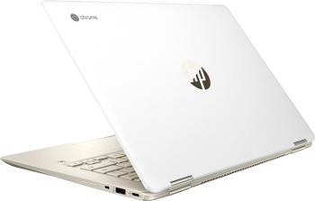 "HP Chromebook x360 14-da0012dx - 14"" Touchscreen, Intel i3, 8GB RAM, 64GB SSD, White with Gold"