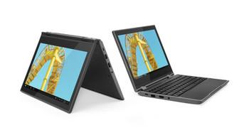 "Lenovo 300e, Intel Celeron N4120, 11.6"" Touch, 4GB RAM, 64GB eMMC, Windows 10 Pro - 81M90061US"