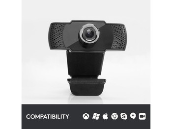 Ultimo 1080p Usb 2.0 Webcam with Built in Mic Black 1 Year Warranty