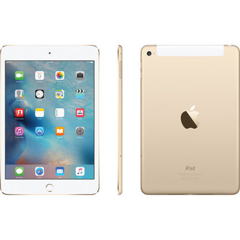 "Apple 128GB iPad Mini 4 - 4G LTE, 7.9"" Touchscreen, Gold - MK7V2LL/A"