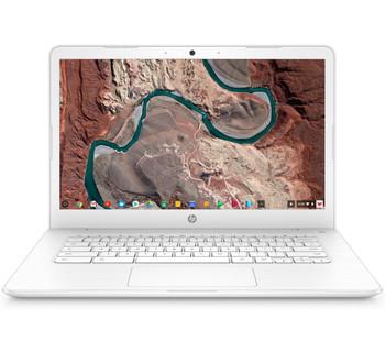 "HP Chromebook 14-ca010nr - 14"" Display, Intel Celeron, 4GB RAM, 32GB eMMC, White"