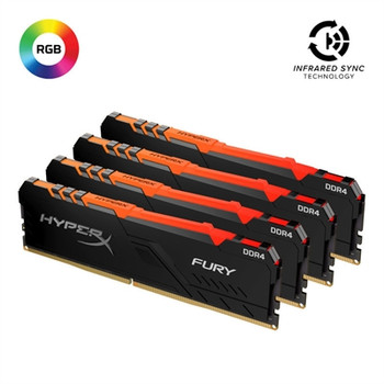 Kingston HyperX FURY 128G 3200MHz CL16 Kit of 4 Memory Modules