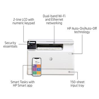 HP Laser Jet Pro M182nw Color Multi Function 600/600 DPI 17ppm Print/Copy/Scan
