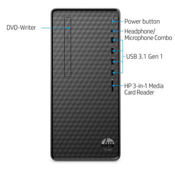 HP M01-F0024 – AMD Ryzen 5 Pro, 12GB RAM, 256GB SSD, Windows 10, Black