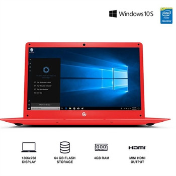 "Core Innovations 14.1"" Laptop - 4GB RAM, 64GB SSD, Windows S Mode, Red"