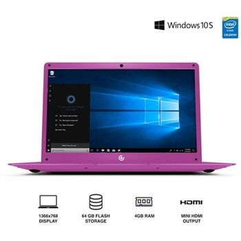 "Core Innovations 14.1"" Laptop - 4GB RAM, 64GB SSD, Windows S Mode, Pink"