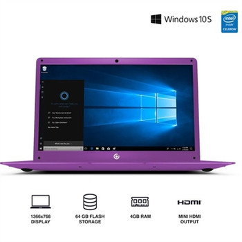 "Core Innovations 14.1"" Laptop - 4GB RAM, 64GB SSD, Windows S Mode, Purple"