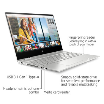 "HP ENVY x360 15m-dr1011dx - Intel i5, 8GB RAM, 256GB SSD, 15.6"" Touch Screen, Windows 10"
