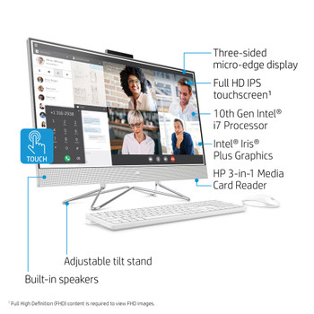 """HP All-in-One 27-dp0167c - 27"""" Touch-Screen, 16GB RAM, 1TB HDD, Windows 10"""