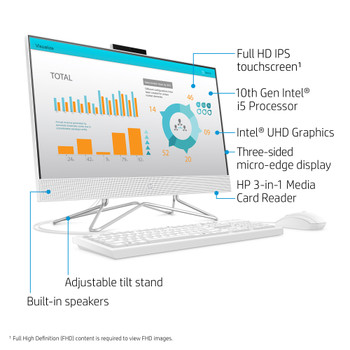 "HP All-in-One - 24-df0056 - 23.8"" Touch-Screen, Intel i5, 8GB RAM, 256GB SSD, Windows 10"