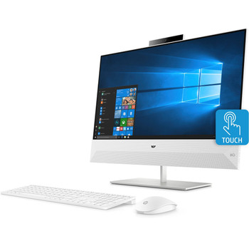 "HP Pavilion All-in-One 24-xa1009 - 23.8"" Touchscreen, Ryzen 3, 8GB RAM, 2TB HDD, White"