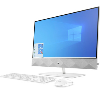 """HP Pavilion All-in-One 27-d0240t - 27"""" Touch-Screen, Intel i7, 16GB RAM, 256GB SSD + 1TB HDD, GeForce MX350 4GB, White"""