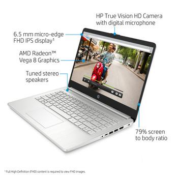 """HP Laptop - 14-fq0025od - Ryzen 5, 8GB RAM, 256GB SSD, 14"""" Display, Windows 10"""