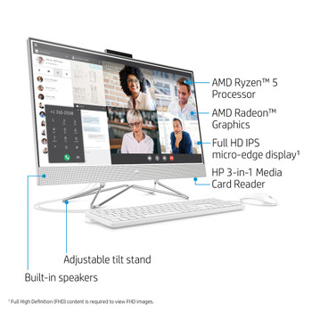 "HP Pavilion 27-dp0016 - 27"" AIO Non-Touch PC - AMD Ryzen 5, 8GB RAM, 1TB HDD, Windows 10"