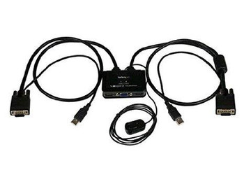 Startech Control Two Vga, Usb-equipped Pcs With A Single Monitor, Keyboard, And Mouse Per