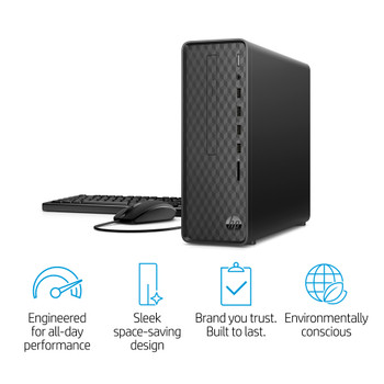 HP Slim Desktop S01-PF1016 – Intel i3, 8GB RAM, 256GB SSD, Windows 10