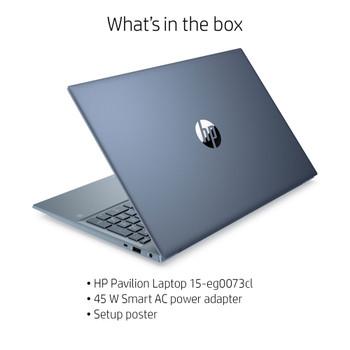 "HP Pavilion Laptop 15-eg0073cl - 15.6"" Touch, Intel i7, 16GB RAM, 512GB SSD, Fog Blue"