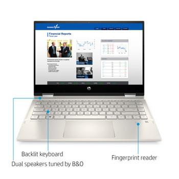 "HP Pavilion x360 Convertible 14m-dw1023dx - 14"" Display, Intel i5, 8GB RAM, 256GB SSD, Windows 10"