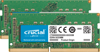 Crucial 32GB (Kit of 2x 16GB) DDR4 2666 SODIMM Memory Modules for Mac - CT2K16G4S266M
