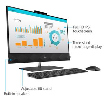 "HP Pavilion 27-D0014 AIO PC – 27"" Touch, Intel Core i7-10700T, 16GB RAM, 512GB SSD, Windows 10 Home"