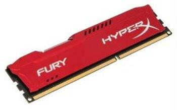 Kingston 8gb 1600mhz Ddr3 Hyperx Fury Red Series