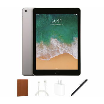 "Apple iPad 5 Tablet Bundle - 9.7"" Touch, A9 1.80 GHz, 2 GB RAM, 32 GB Storage, Space Gray - MP2F2LL/A"
