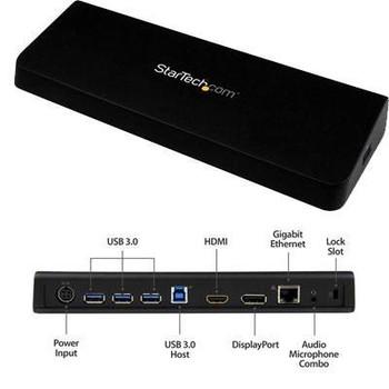 Universal HDMI and DVI/VGA Dual-Monitor Docking Station for Laptops - USB 3.0