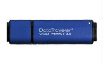 Kingston 16GB DataTraveler Vault Privacy, Blue, Encrypted USB 3.0 flash drive