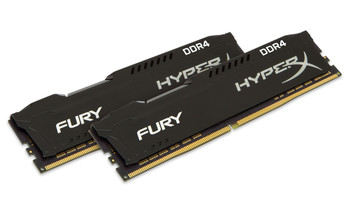 Kingston 16gb 2400mhz Kit Of 2 Hyperx Fury Black Memory Modules