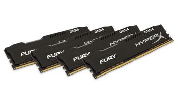 Kingston HyperX FURY Black 16GB DDR4 2400MHz Kit of 4 Memory Modules
