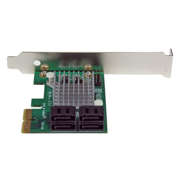 4 Port PCI Express 2.0 SATA III 6Gbps RAID Controller Card with HyperDuo SSD Tiering