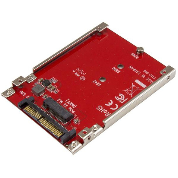 M.2 Drive to U.2 (SFF-8639) Host Adapter for M.2 PCIe NVMe SSDs