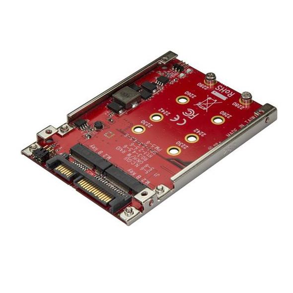 """Dual-Slot M.2 Drive to SATA Adapter for 2.5"""" Drive Bay - RAID"""
