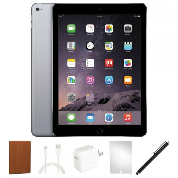 Apple iPad Air 2 Bundle - 1.50GHz, 2GB RAM, 16GB Flash, Space Gray