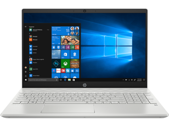 "HP 15z-ef100 Notebook - 15.6"" Display, AMD 3150U, 8GB RAM, 128GB SSD, Silver, Windows 10"
