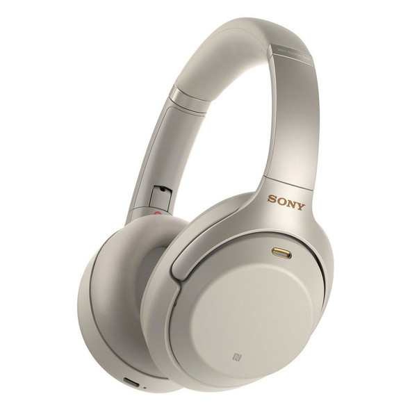 Sony WH1000XM4 Wireless Noise Canceling Over-the-Ear Headphones with Google Assistant, Silver
