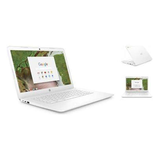 "HP Chromebook 14-ca060nr - Intel Celeron, 4GB RAM, 32GB SSD, 14"" Touchscreen, White"