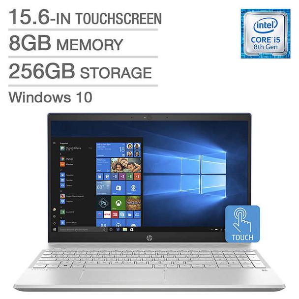 "HP Pavilion 15-CS0003CA - 15.6"" Touch, Intel i5 – 1.60GHz, 8GB RAM, 256GB SSD, Blue"