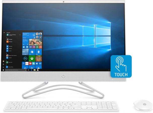 "HP All-in-One 24-f0040 - 23.8"" Touch, AMD A9 - 3.10GHz, 8GB RAM, 1TB HDD, White"