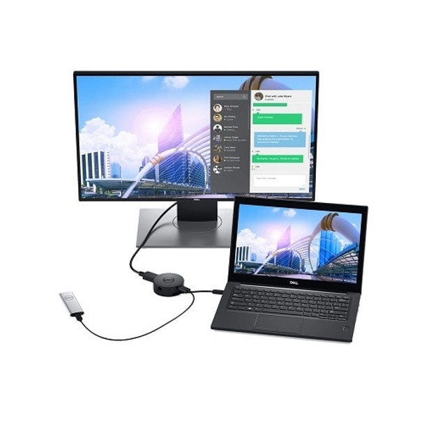 DELL 470-ACWN USB 3.0 (3.1 Gen 1) Type-C Black Docking Station