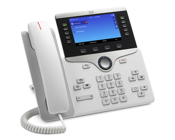 Cisco 8851 IP Phone - Remanufactured - Cable - Desktop, Wall Mountable, White