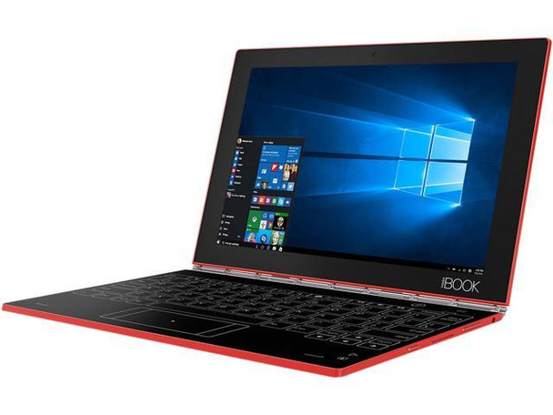 "Lenovo Yoga Book 2-in-1 Notebook - Intel Atom 1.60GHz, 4GB RAM, 128GB SSD, 10.1"" Touch, Windows 10 Pro, Red"